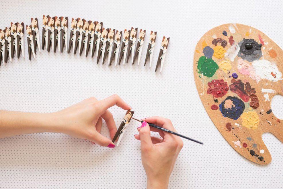 Drevené svadobné magnetky, vyrábané ručne.