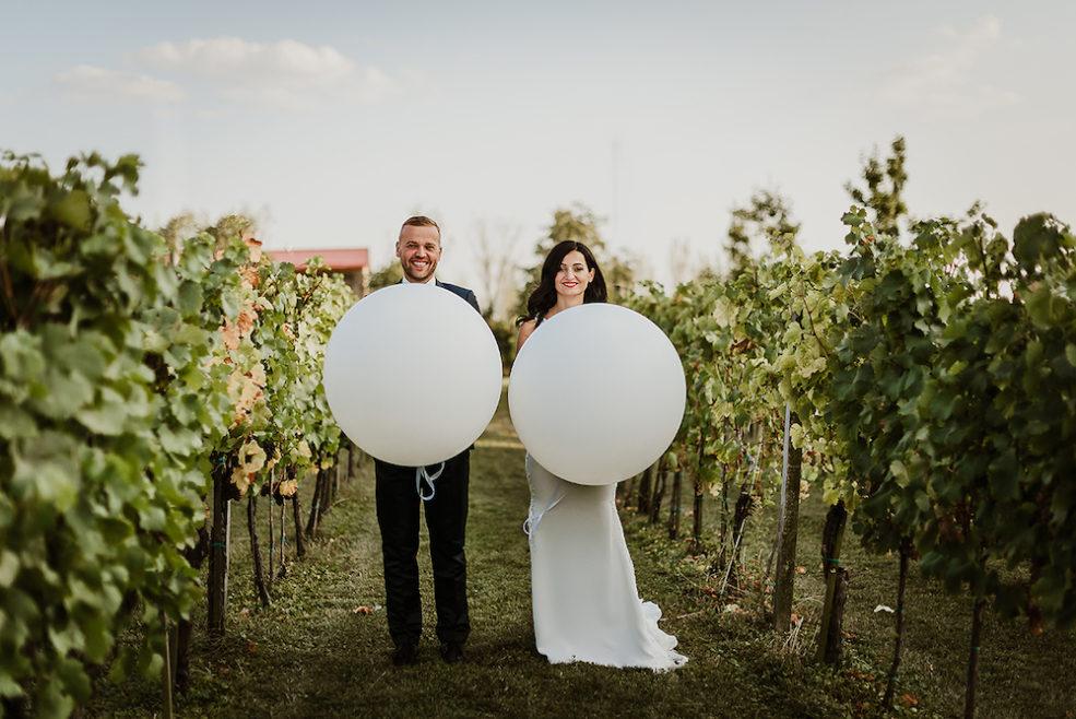 svadobna fotografia dvojice vo viniciach, autor Martin Novák